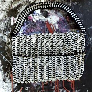 Vintage VTG metal punk retro pop tab handbag purse